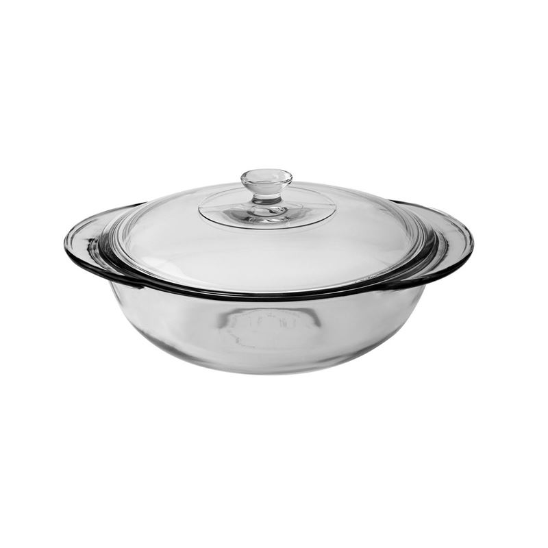 Anchor Hocking – Fire King Round Glass Casserole 25cm 2Ltr (Made in the U.S.A)