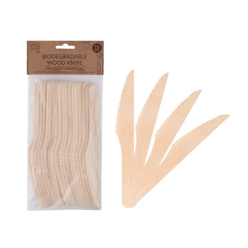 Eco Basics – Biodegradable Wood Knife Pack of 18