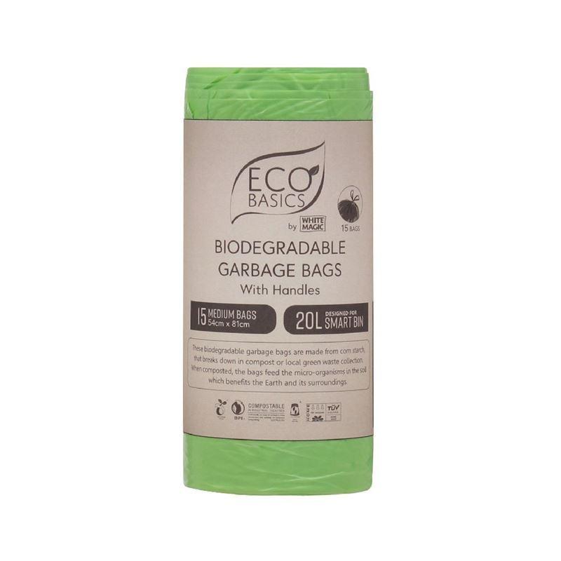 White Magic – Biodegradable Garbage Bags 54x81cm 20Ltr Medium 15 Bags