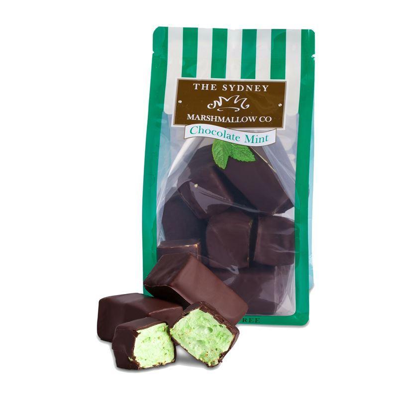 The Sydney Marshmallow Co. – Chocolate Coated Mint Marshmallow 200g Bag