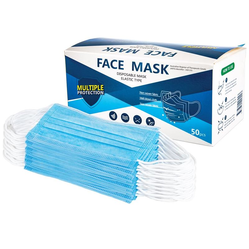 Disposable Non Medical Face Mask Pack of 50