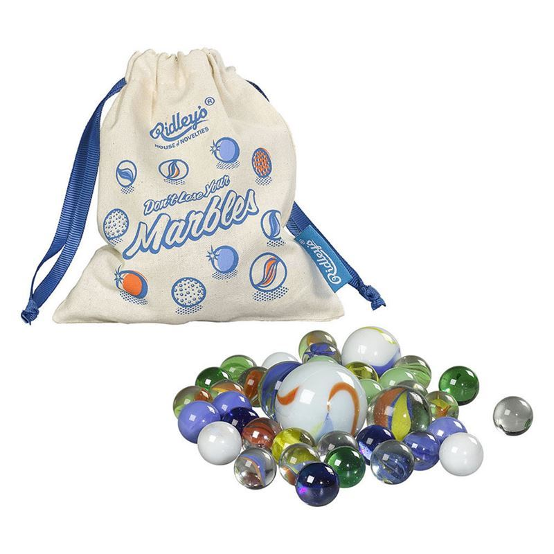 Ridley's Games – Classic Glass Marbles 40pc Pouch