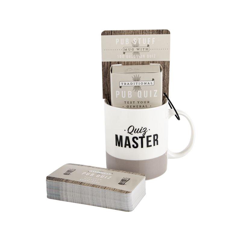 Bell & Curfew – Pub Stuff Quiz Master Ceramic Mug with 100 Question Quiz Cards