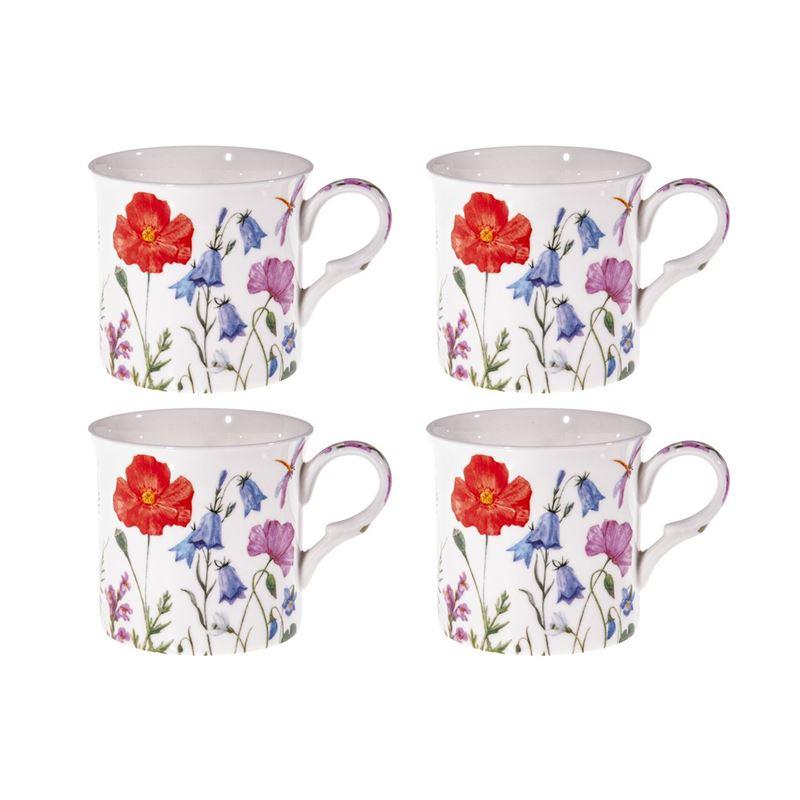 Heritage – Fine Bone China Mug Set of 4 Spring Flowers 400ml