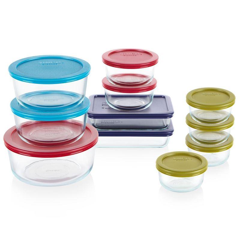 Pyrex Simply Store – Colorado 22pc (including Lids) Glass Storage Set (Made in the U.S.A)