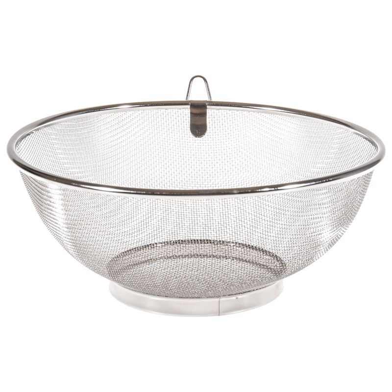 Benzer – Professional Stainless Steel Mesh Colander with Ring Hanger 25cm