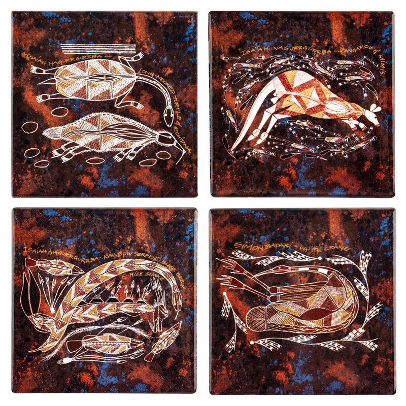 Cinnamon – Injalak Ceramic Coasters Set of 4