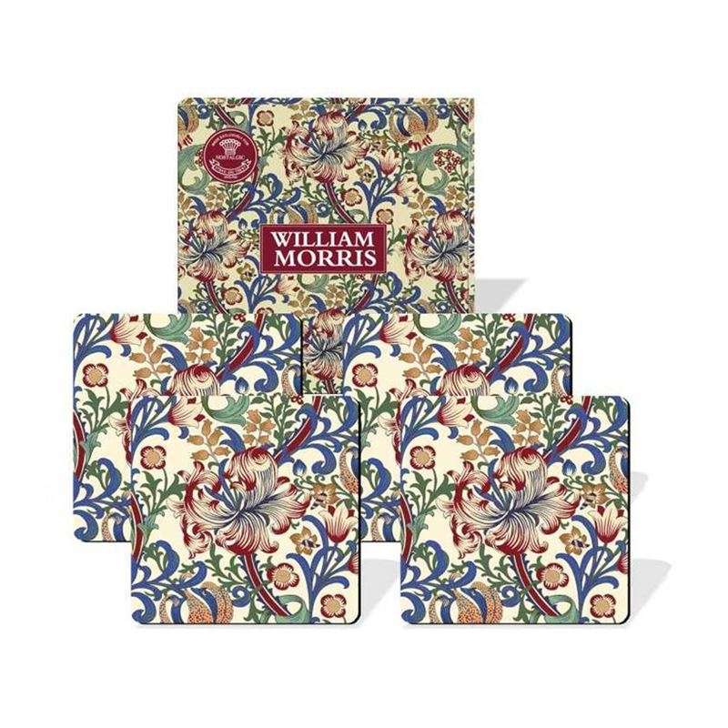 Nostalgic – Morris Lily Coasters 10.5×10.5cm Set of 4