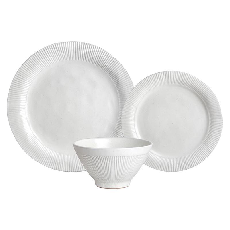 Zuhause – Studio Largo Supreme Stoneware 12 Pce Dinner Set Matt White