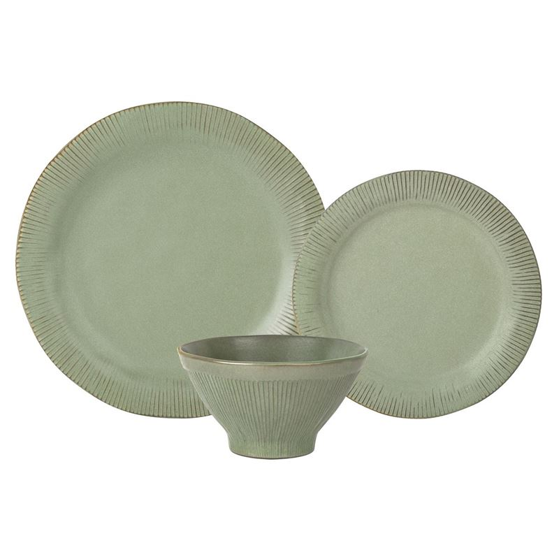 Zuhause – Studio Largo Supreme Stoneware 12 Pce Dinner Set Moss Green
