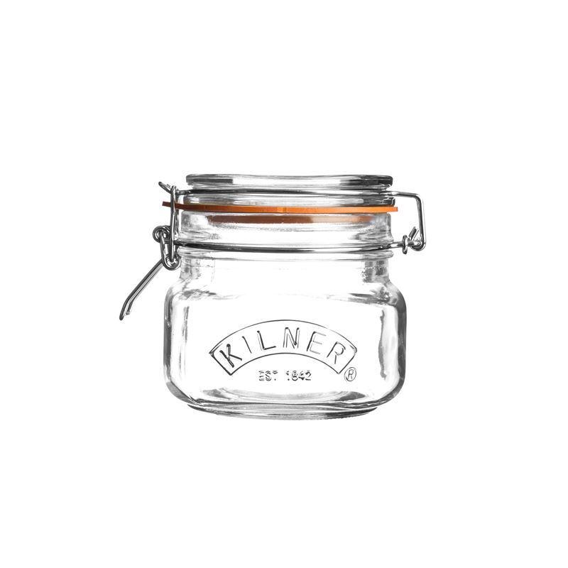 Kilner – Square Glass Clip Top Jar 500ml