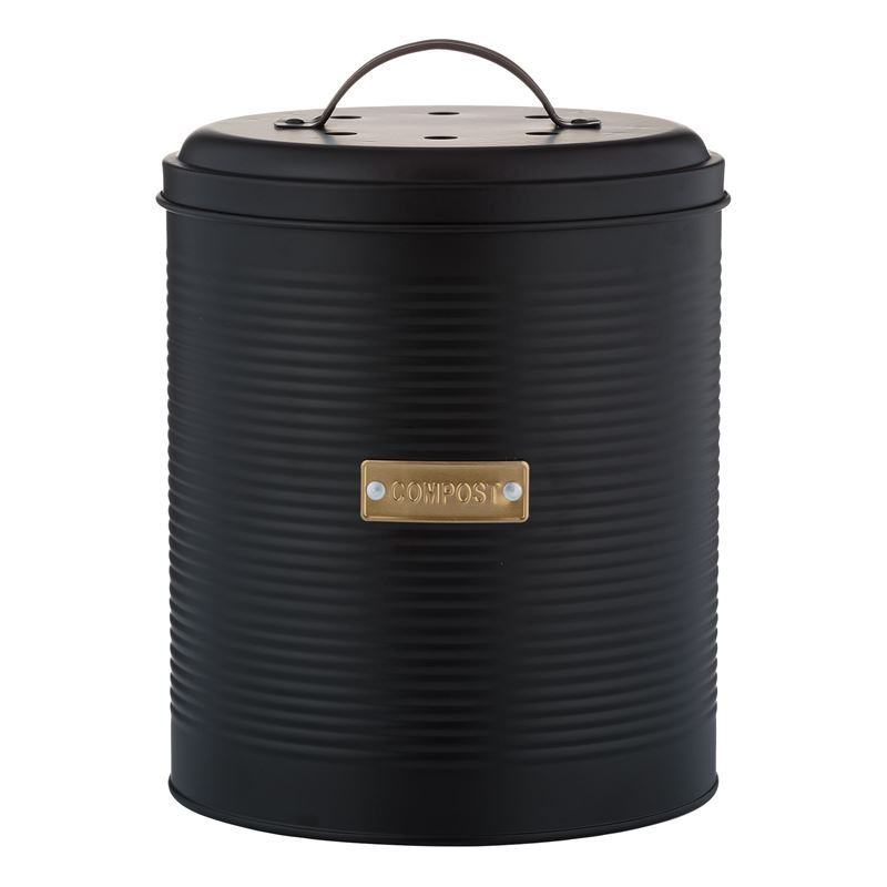 Typhoon – Living Otto Black Compost Caddy 2.5Ltr