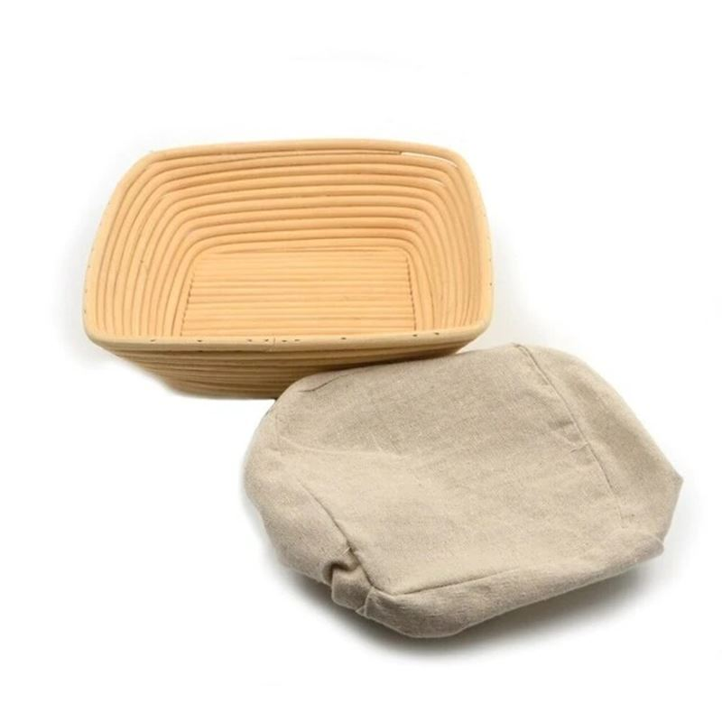 Brunswick Bakers – Square Banneton 25cm WITH LINING