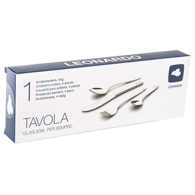 Leonardo – Tavola 18/10 Stainless Steel Children's Cutlery Set 4pc Set