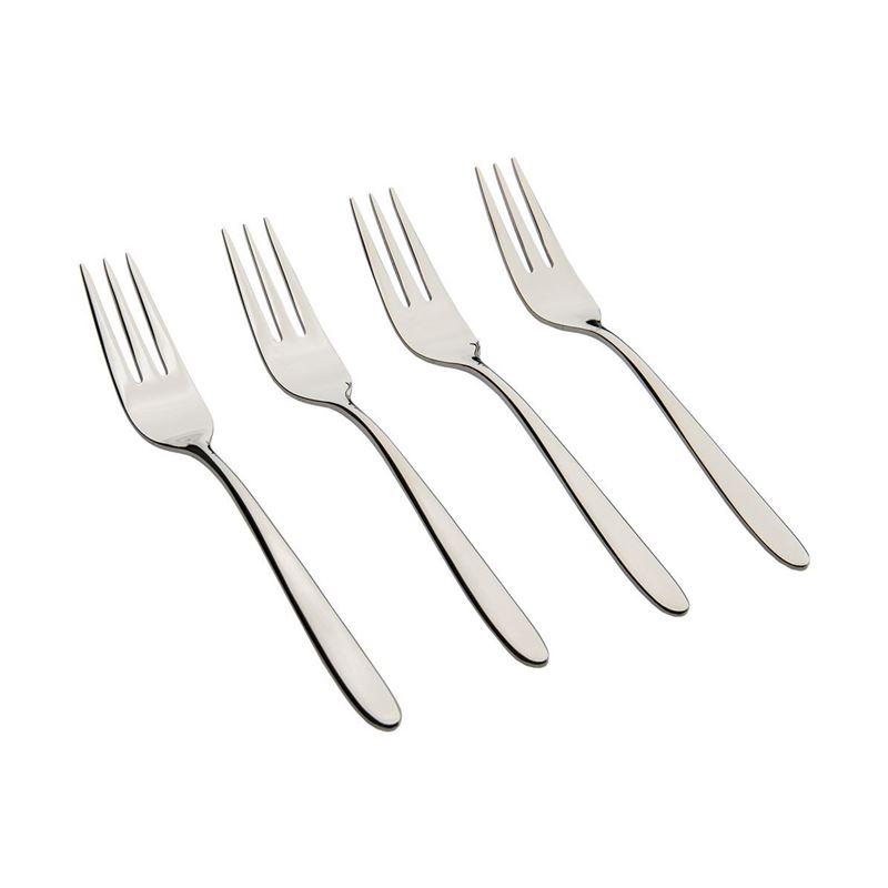 Leonardo – Tavola 18/10 Stainless Steel Pastry Forks Set of 4