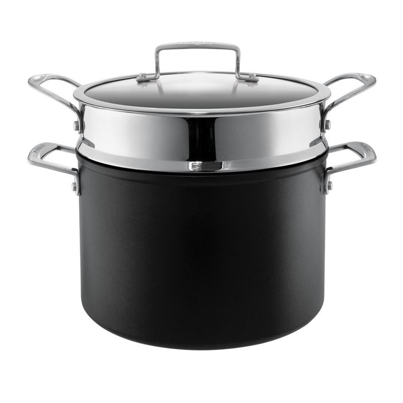 Pyrolux – Ignite Hard Anodised Non-Stick Induction 24cm Stock Pot 7.2Ltr with Pasta Insert