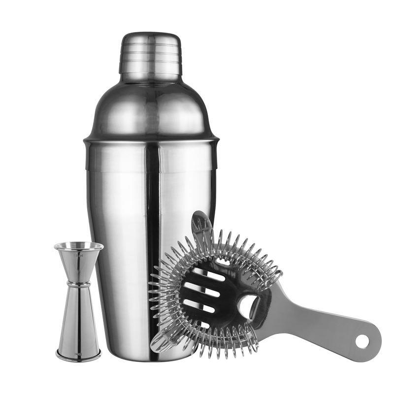 Avanti – Bar Cocktail Shaker, Strainer and Jigger Set