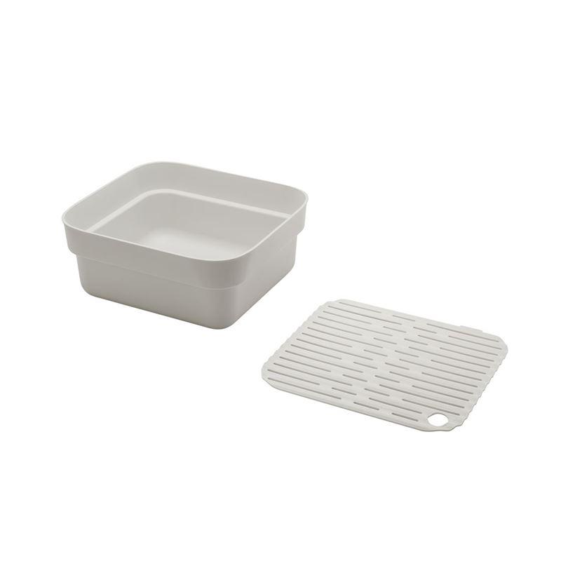 Brabantia – Washing Up Bowl with Drying Tray Light Grey
