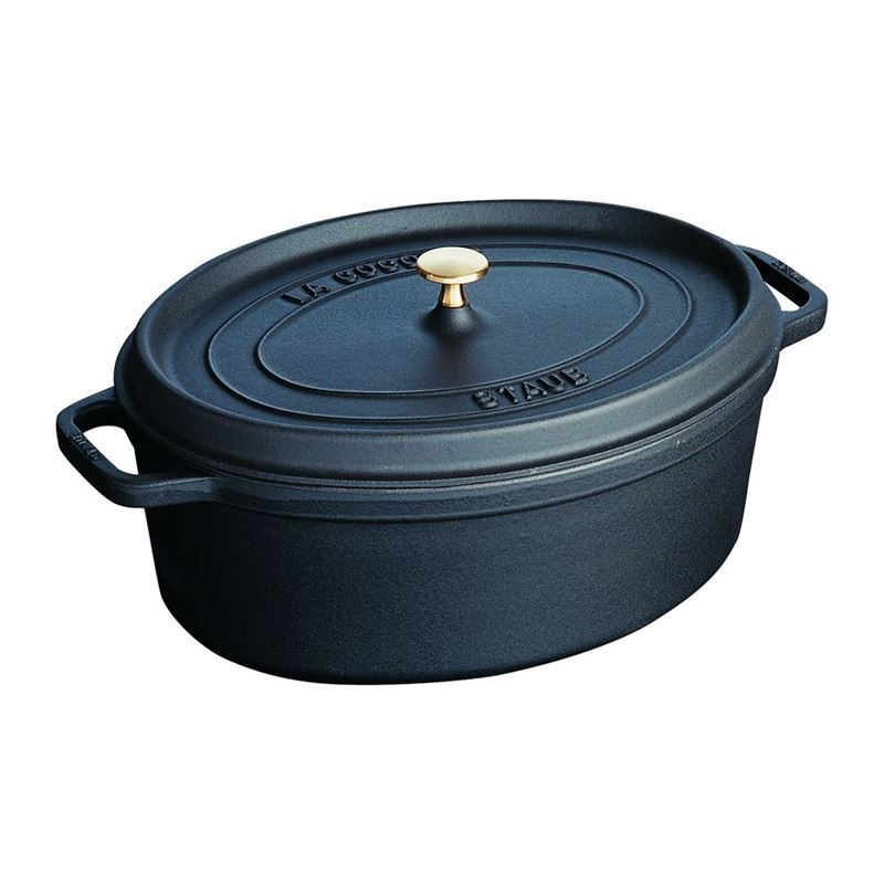 Staub – Cast Iron Oval Cocotte 31cm 5.5Ltr Black (Made in France)
