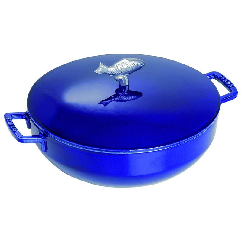 Staub – Cast Iron 28cm Bouillabaisse Pot 4.65Ltr Blue (Made in France)