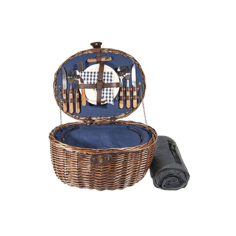 Zuhause – Balmoral Picnic Basket for 2 with Picnic Rug 43x33x23cm