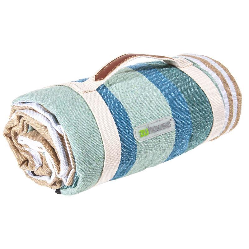 Zuhause – Nikki Picnic Rug 200x150cm Blue Stripe