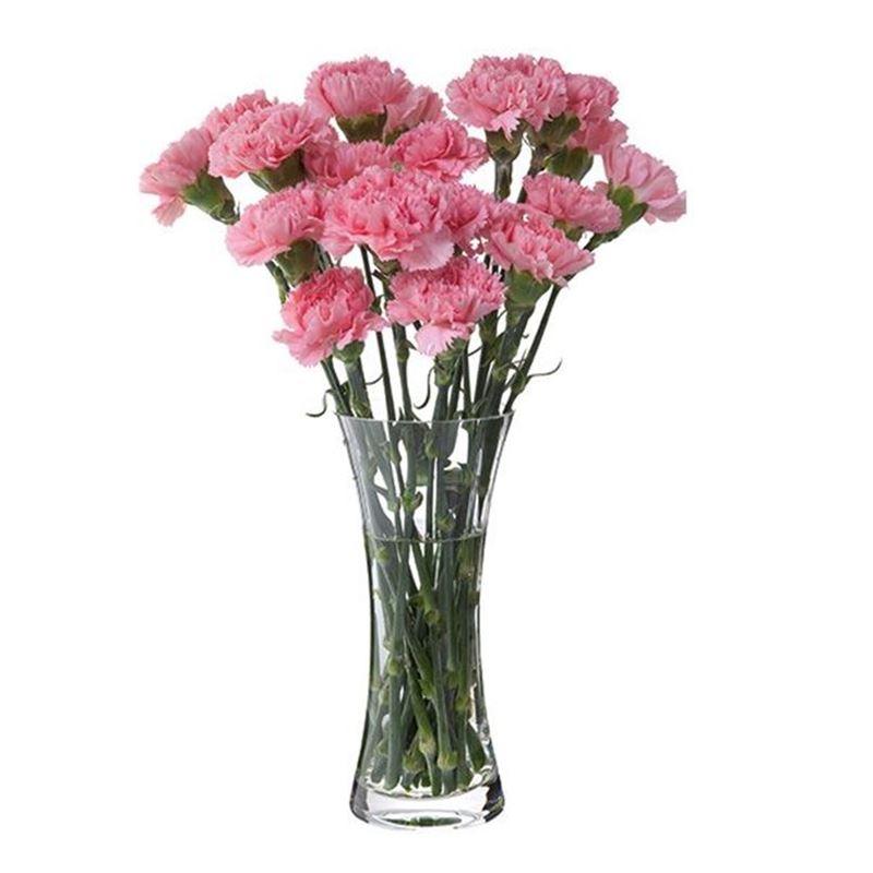 Dartington – Florabundance Crystal Carnation Vase 26cm (Made in the U.K.)