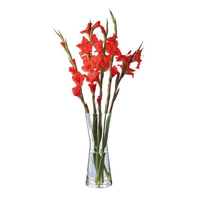 Dartington – Florabundance Crystal Gladioli Vase 36cm (Made in the U.K.)
