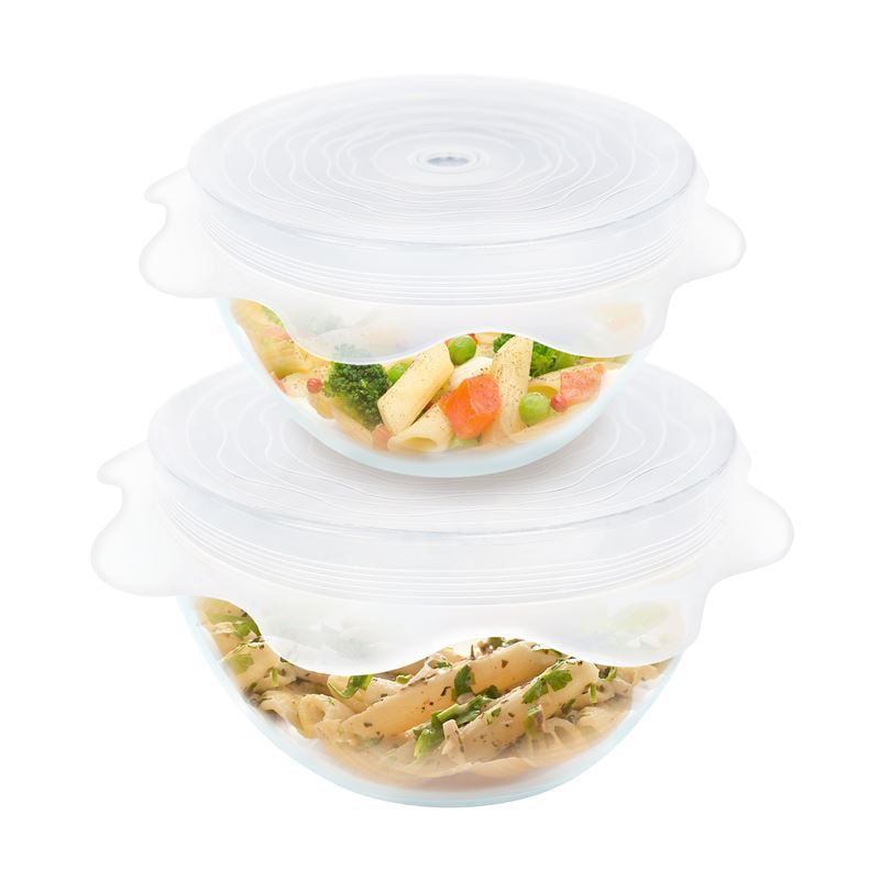 Grand Fusion – Silicone Vented Microwave Food Covers Set of 2