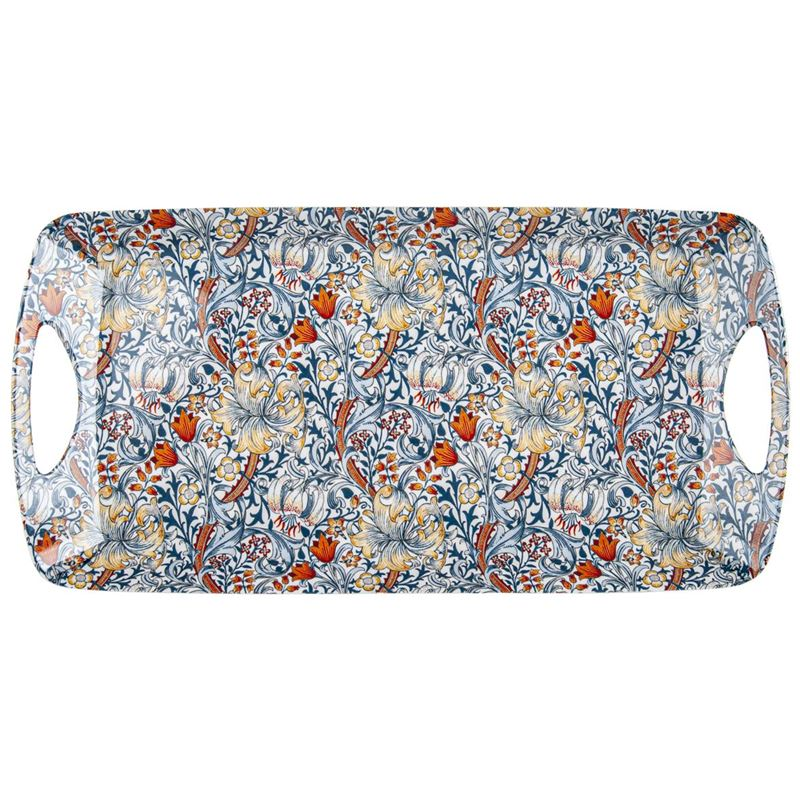 Nostalgic – Luxury Handled Sandwich Tray Blue Lily 38x20cm