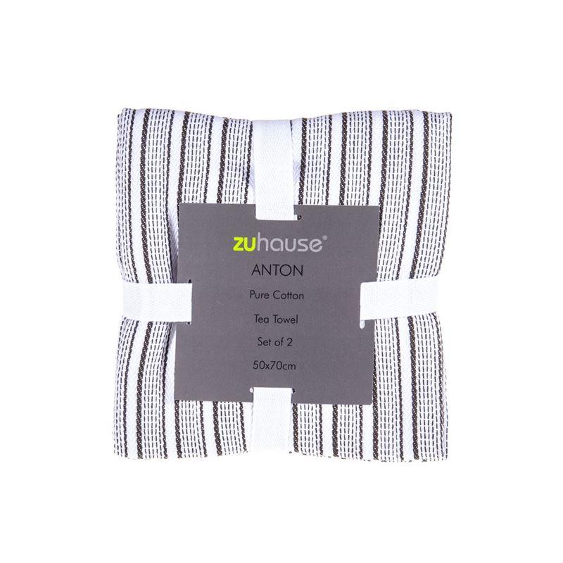 Zuhause – Anton Pure Cotton Set of 2 Tea Towels 50x70cm