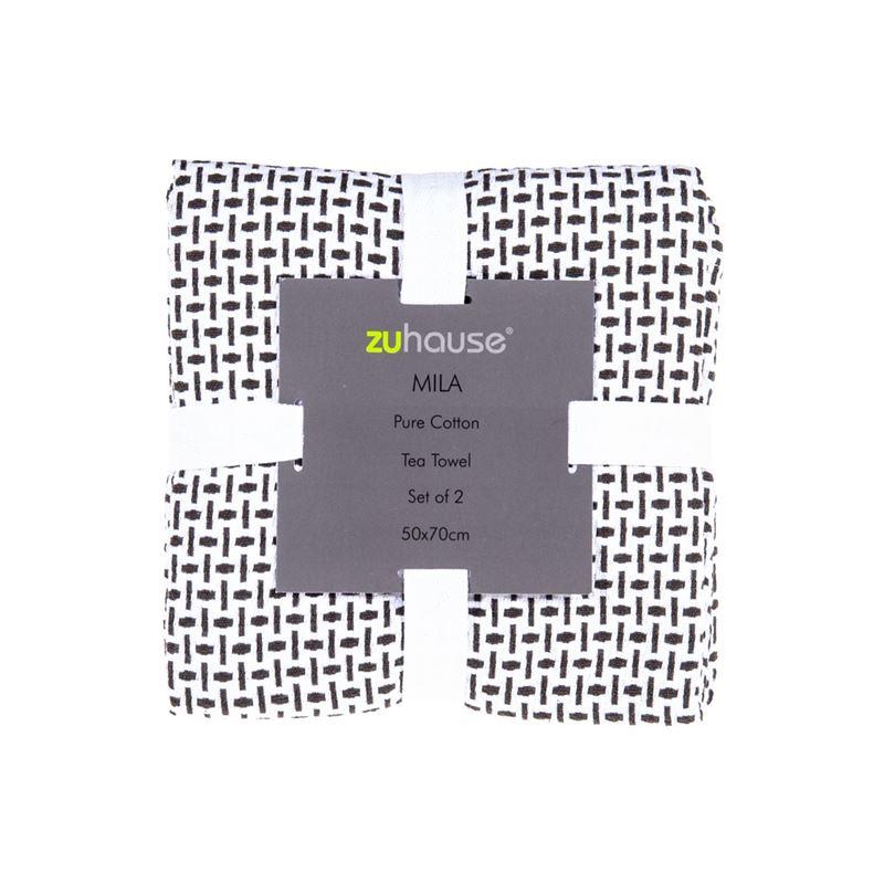 Zuhause – Mila Pure Cotton Set of 2 Tea Towels 50x70cm