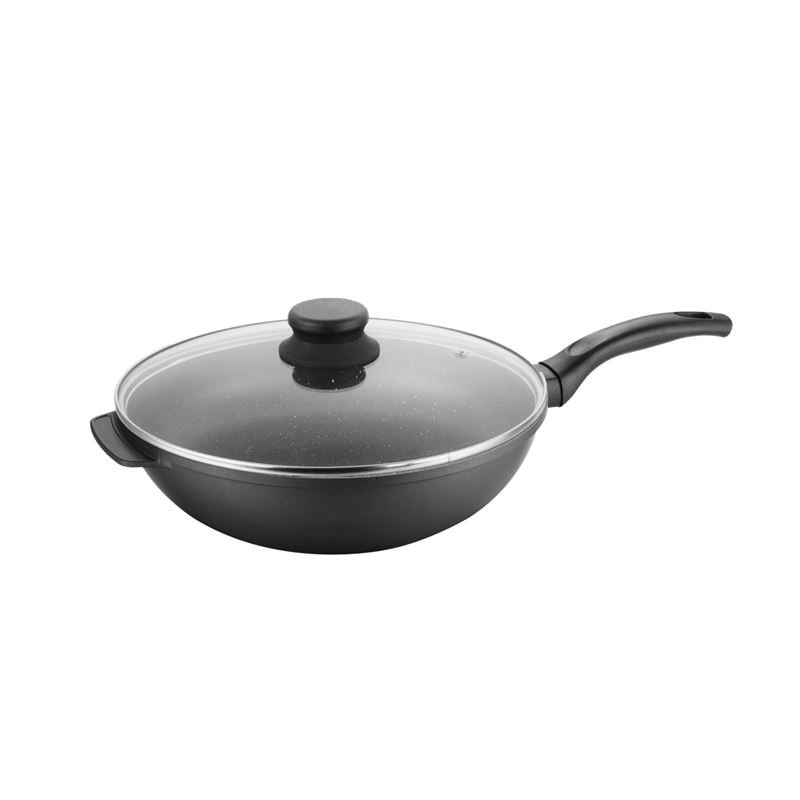 Benzer – Premium Stone Non-Stick Induction Wok 32cm with Lid