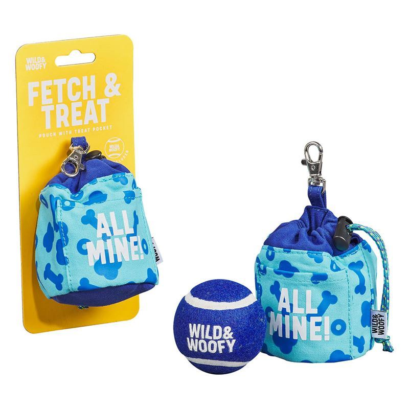 Wild & Woofy – Fetch & Treat Ball and Pouch