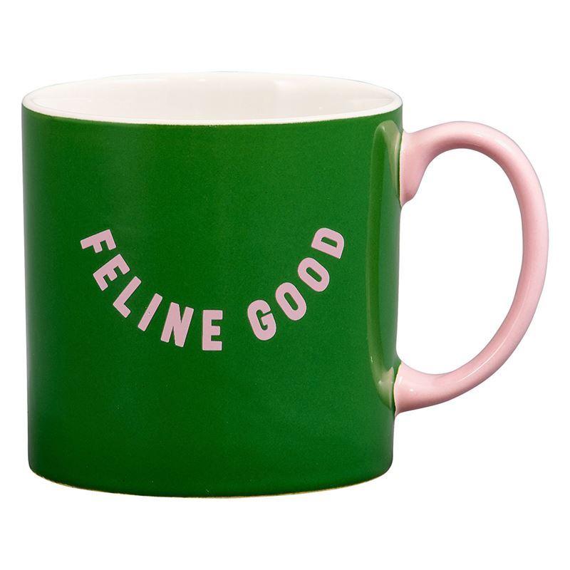 Wild & Woofy – Feline Good Mug Green