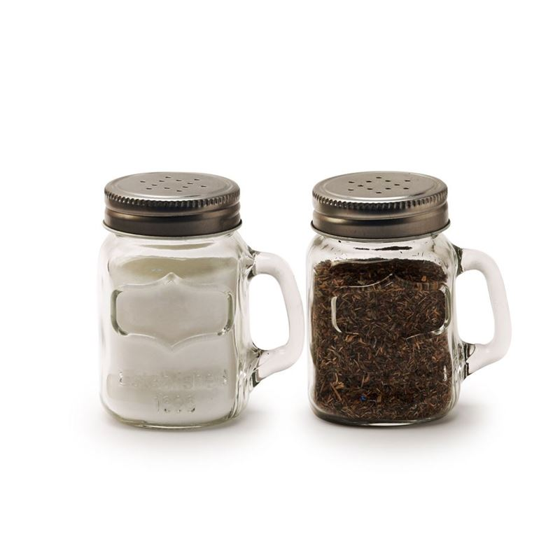 Circleware – Yorkshire Mason Jar Salt and Pepper Shaker Large Set of 2
