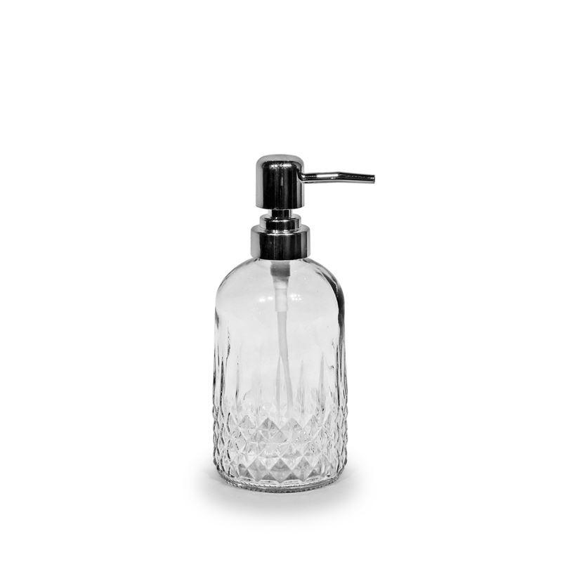 Circleware – Vintage Retro Cut Round Base Clear Glass Soap Pump