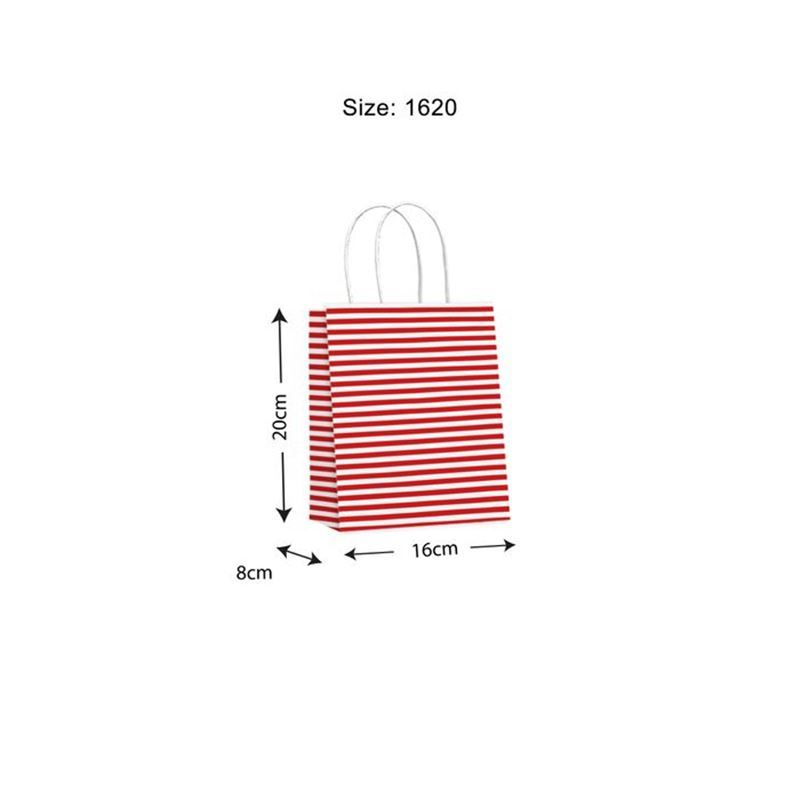 Vandoros – Candy Red Gift Bag SMALL Size A PACK of 10