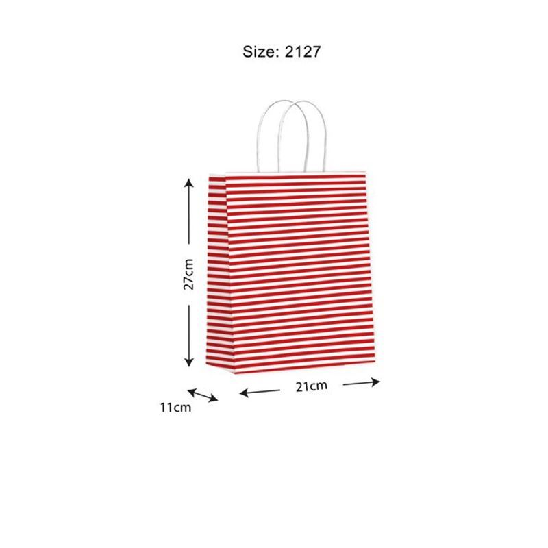 Vandoros – Candy Red Gift Bag MEDIUM Size B PACK of 10