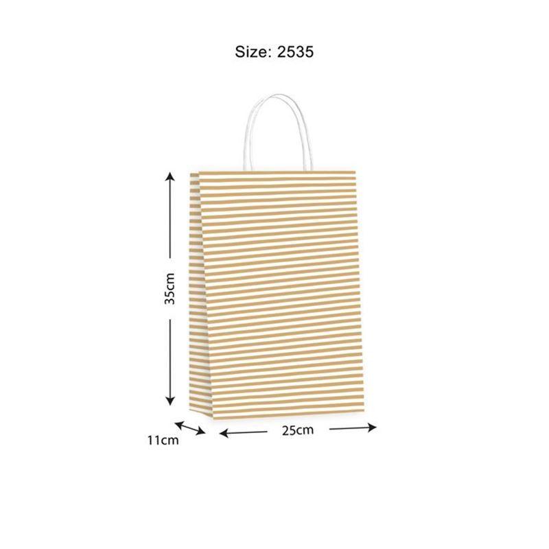 Vandoros – Candy Gold Gift Bag LARGE Size C PACK of 10