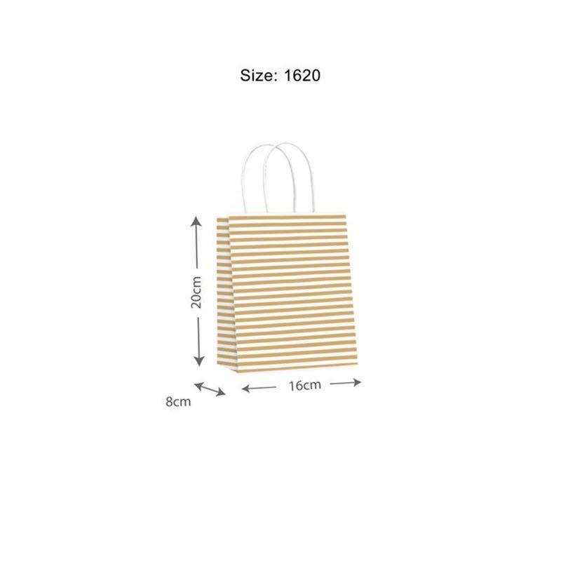 Vandoros – Candy Gold Gift Bag SMALL Size A PACK of 10
