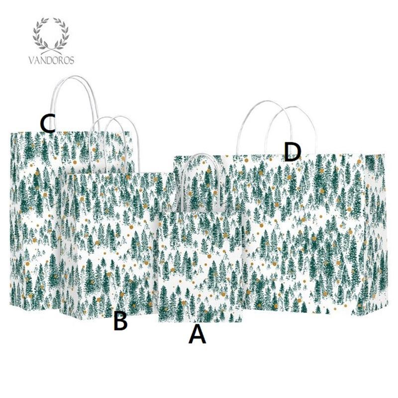 Vandoros – Alpine Evergreen Gift Bag SMALL Size A PACK of 10 16x20x8cm