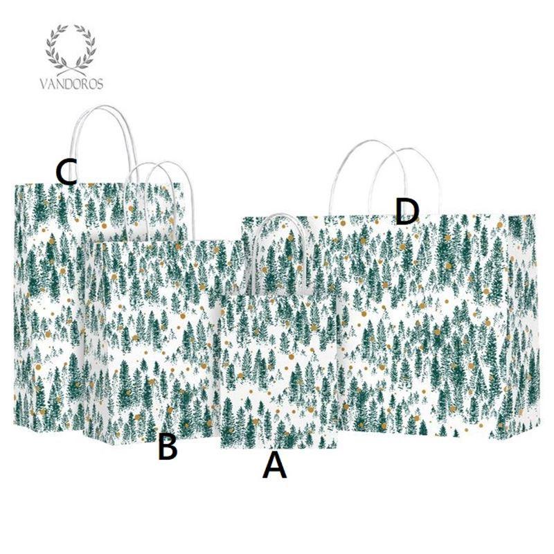 Vandoros – Alpine Evergreen Gift Bag LARGE Size C PACK of 10 25x35x11cm