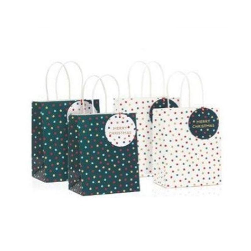 Vandoros – Jolly Holiday Gift Bag with Tag SET OF 4