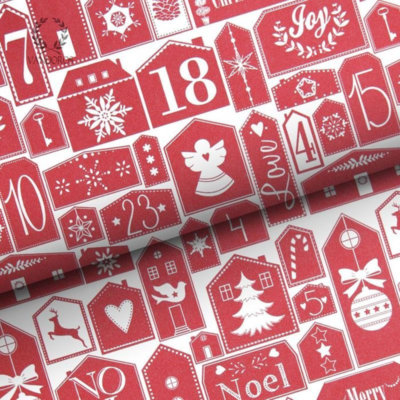 Vandoros – Wrapping Paper Advent Calendar RED 3Mtrs