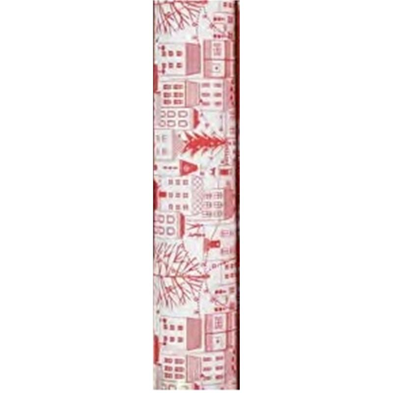 Vandoros – Wrapping Paper City RED 3Mtrs