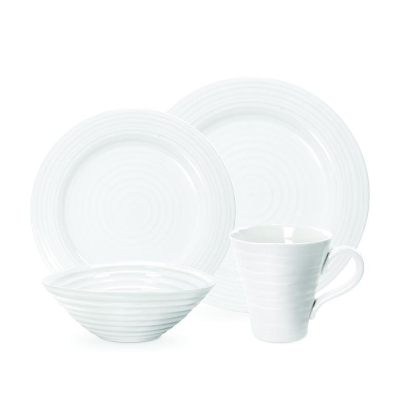 Sophie Conran for Portmeirion – Ice White 16pc Dinner Set in Deluxe Gift Box