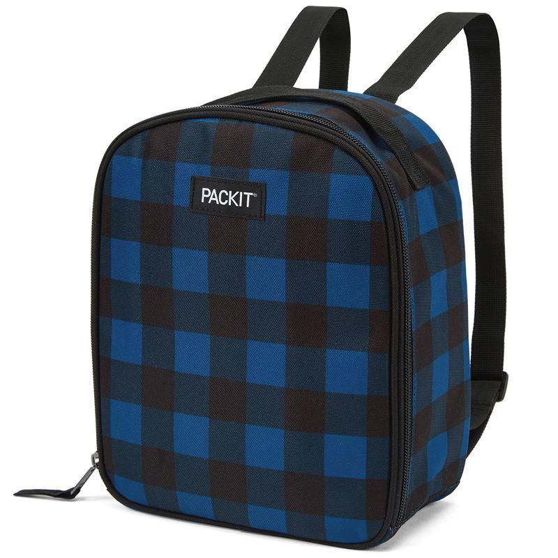 Packit – Freezable Kids Backpack Lunch Bag Navy Buffalo