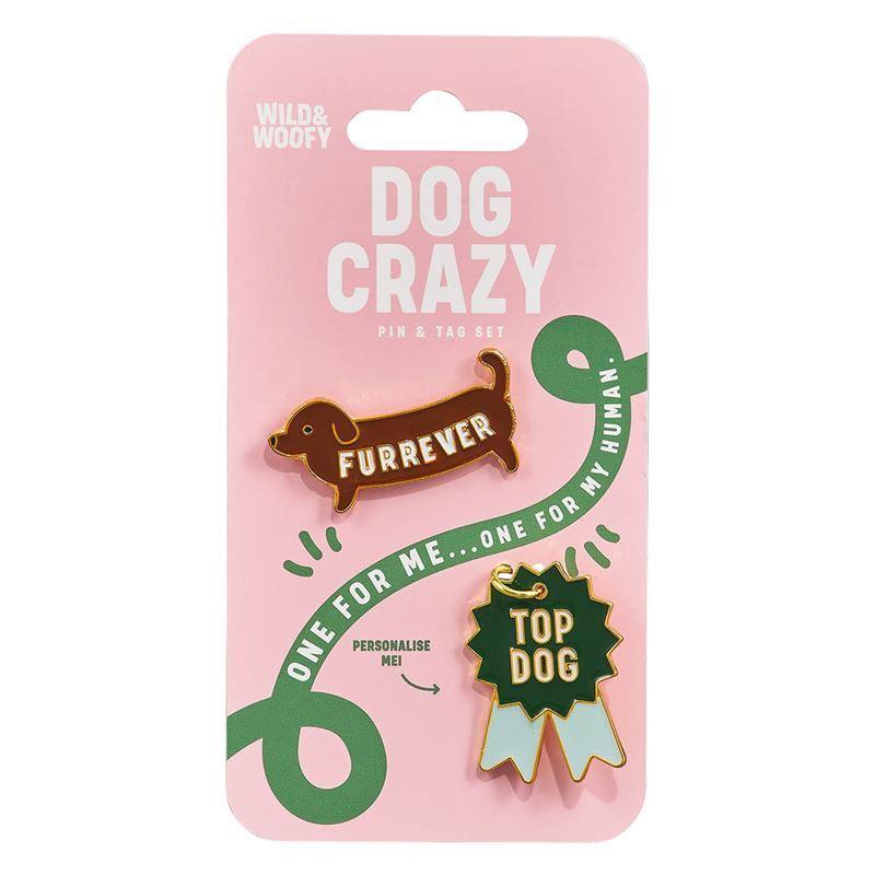 Wild & Woofy – Enamel Pin and Dog Tag Set