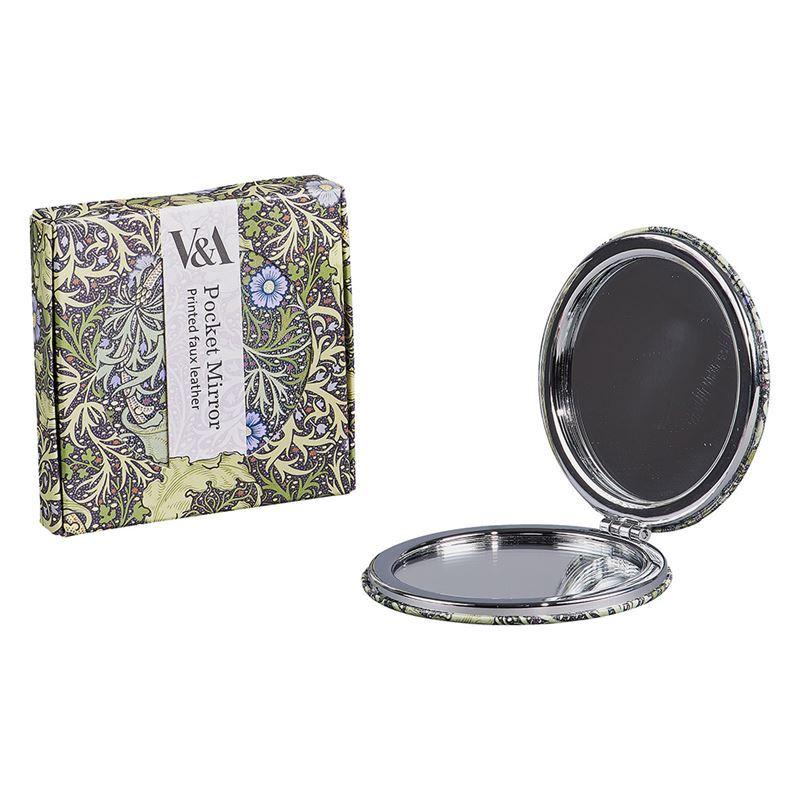 V & A – Compact Mirror Seaweed Print